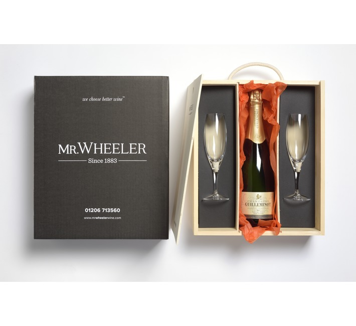 Guilleminot Champagne & Flutes Gift Box
