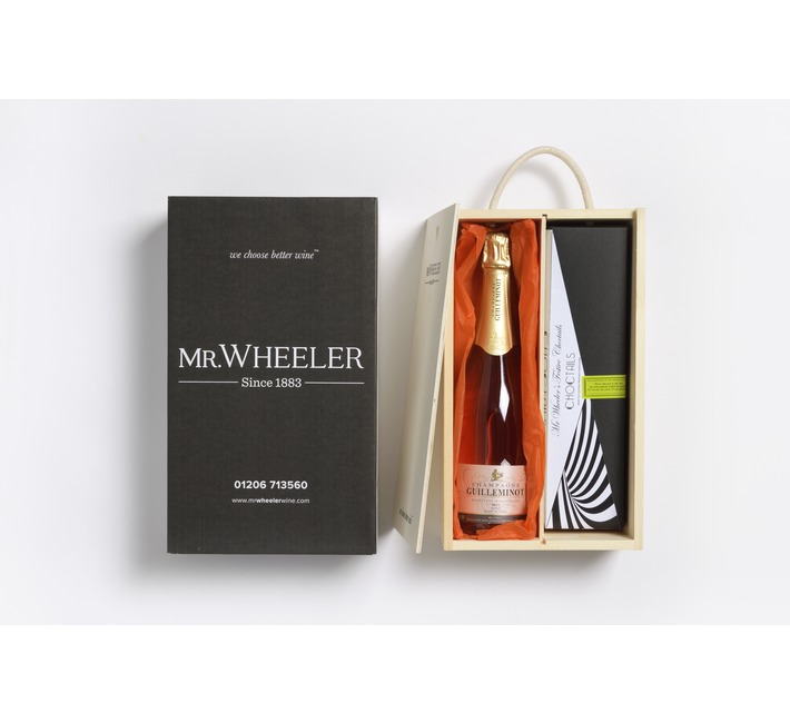 Champagne Truffles & Pink Champagne Gift Box